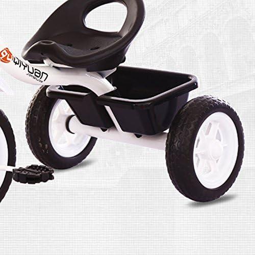 子供の三輪車は、シンプルで軽量な屋内と屋外の2-6歳の炭素鋼白い自転車自転車