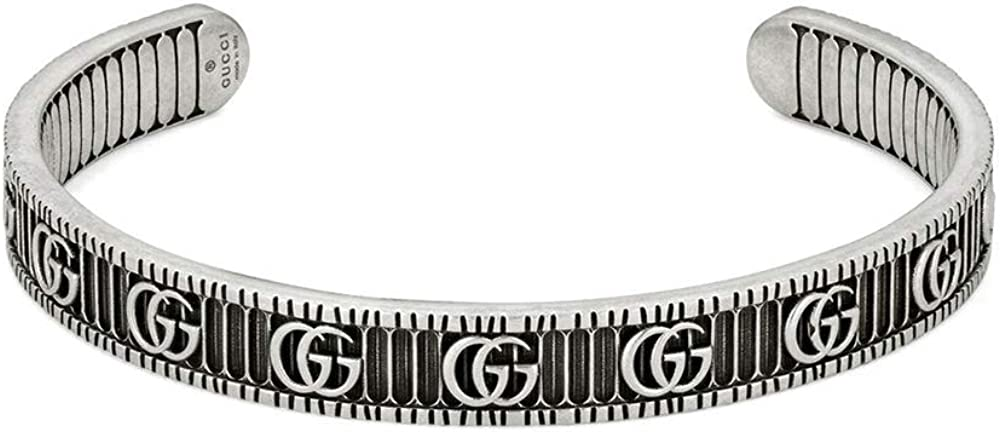 Image of Gucci Marmont Bracelet with Double G in Silver 7,48 inch YBA551903001019