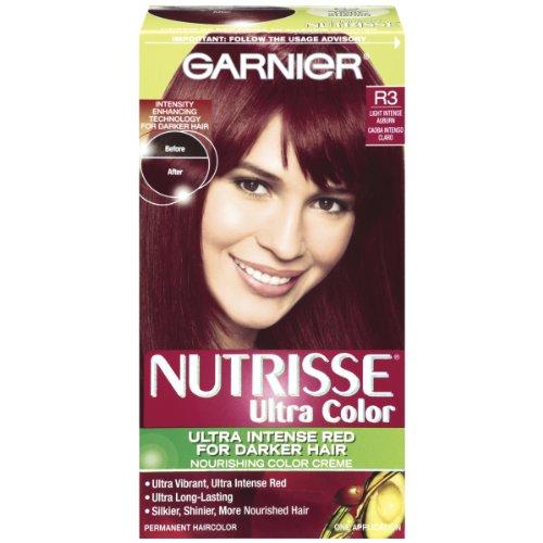 Garnier Nutrisse Ultra Color Couleur Crème Nourrissante, R3 lumière intense Auburn