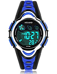 Waterproof Swimming Led Digital Sports Watches for Children Kids Girls Boys,Rubber strap,Blue