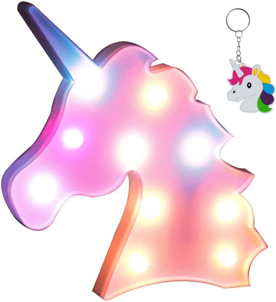 AIZESI Colorful Unicorn Light,Neon Unicorn Marquee Sign,Unicorn Lamp Party Supplies,Unicorn LED Night Light Wall Decoration Room Decor for Little Girls,Living Room,Bedroom as Kid's Gifts(Unicorn Pink)