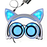 GBSELL Cat Ear Headphones Foldable LED Gaming Music - Best Reviews Guide