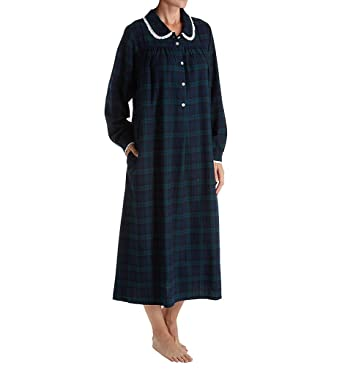 Lanz of Salzburg Women s Long Sleeve Flannel Gown at Amazon Women s  Clothing store  66badfe56