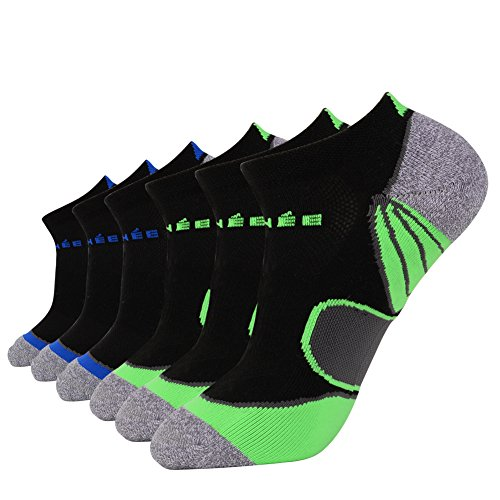 JOYNÉE Men's 6 Pack Athletic No Show Performance Comfort Cushioned Low Cut Training Socks – DiZiSports Store