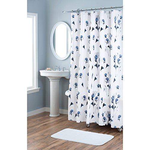 Home Dynamix Nicole MillerLe-Petite-Fleur 100% Cotton Fabric Shower Curtain, Standard 72