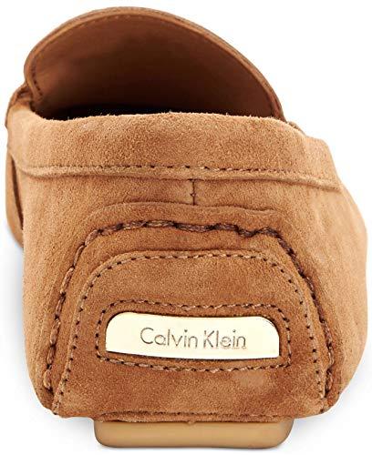 Mocasines Calvin New Talla Klein Mujeres Piel Lisette Caramel x8raIq8