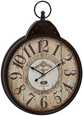 Deco 79 92217 Metal Wall Clock, 20 x 28