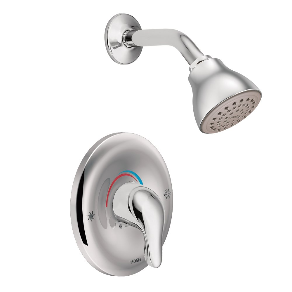 Moen TL182EP Chateau One-Handle Posi-Temp Eco-Performance Shower and Trim, Valve Required, 1, Chrome