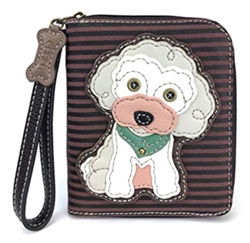 CHALA Pal Zipper Wallet Collection (Poodle - Burgundy)