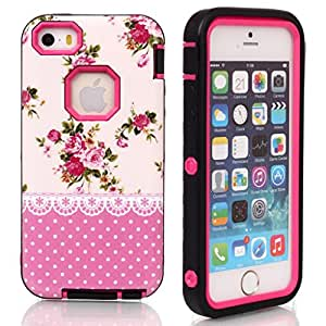 5C hard,for iPhone 5C,Ezydigital Carryberry 3 in 1 Combo Case cover for 5C (Hot Pink)
