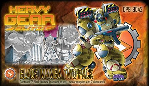 Heavy Gear Miniatures - Heavy Gear Blitz! - Southern Militia Black Mamba Two Pack