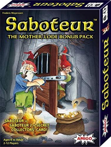 [해외]Saboteur Mother Lode 보너스 팩 카드 게임 사보테어 사보테어 2 시크릿 콜렉터스 카드 포함 - 아마존 독점 / Saboteur Mother Lode Bonus Pack Card GameSaboteur, 2, & Secret Collectors` Card-Amazon Exclusive