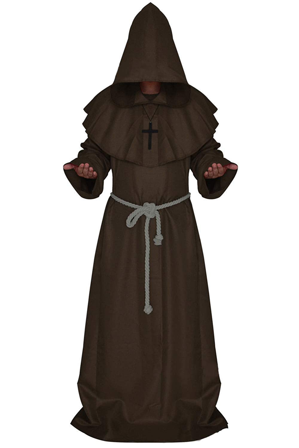 Costume for The Medieval Monks Priest Robe Hooded Cosplay Various Styles