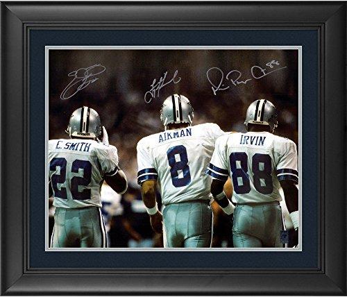 Troy Aikman, Michael Irvin, Emmitt Smith Dallas Cowboys Framed Autographed 16