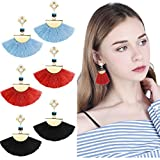 Besteel Fringe Tassel Dangle Earrings for Women Girls Drop Earring Set
