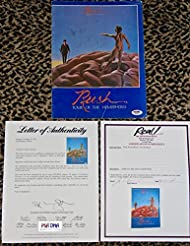 RARE 1978 Rush HEMISPHERES signed autographed concert tour book by 3 PSA DNA COA BACKSTAGE PASS