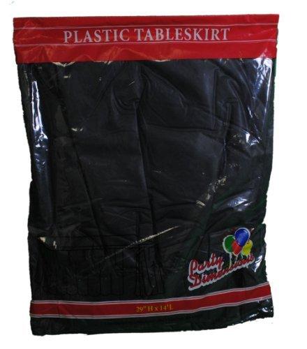 Black Plastic Table Skirt 29