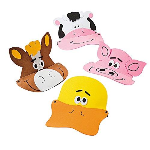 Farm Animal Foam Visors (12 Pack) 21