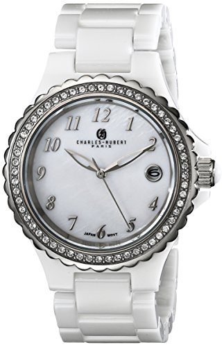 Charles-Hubert, Paris Women's 6904-W Premium Collection Analog Display Japanese Quartz White Watch (Premium Charles Hubert Collection)