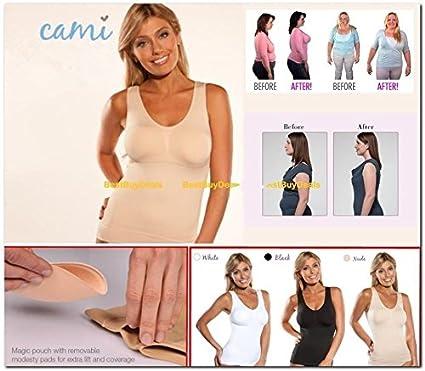 Women/'s Body Shaper Genie Bra Shapewear Tank Top Slimming Tummy Control Camisole