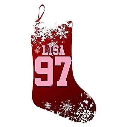 Amazon Com Woshprgt Christmas Stocking Blackpink Lisa 97 Xmas