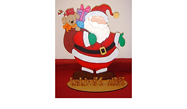 Ancho//alto Silueta Papa Noel Medidas: Ideal para decoraci/ón y manualidades : 40 * 53,5 cm. Decoraci/ón Navidad Para pintar