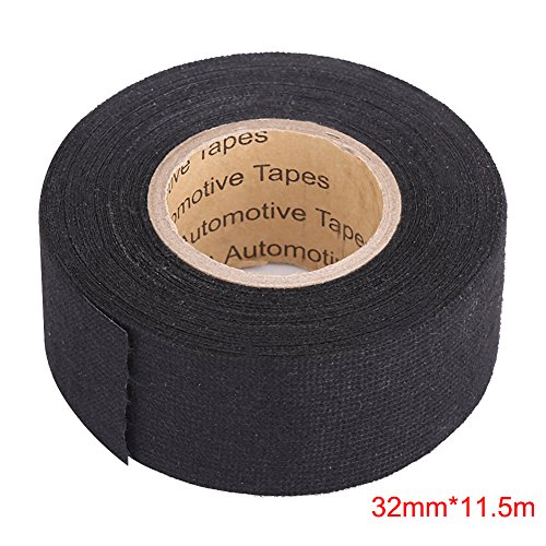 Black Insulation Tape (Insulation Tape Black,High Temperature Resistant Automotive Wiring Harness Tape Car Electrical Self Adhesive Anti Squeak Tape For Mercedes BMW VW Audi (32mm×11.5m))