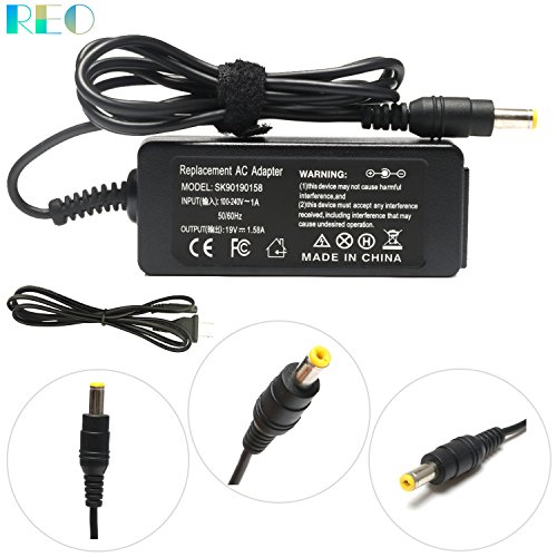 19V 1.58A 30W AC Adapter Charger Replacement For Dell Inspiron Mini 9 10 10v 12 PP19S,Mini 910 1010 1011 1012 1018 1090 DUO 1210;Acer Gateway Kav60 Nav50 N214 PA-1300-04 Lt20 Lt2016u Lt31 Power Cord