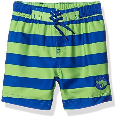 Little Me Baby Boys' Swim Trunks, Blue/Green, 24 Months
