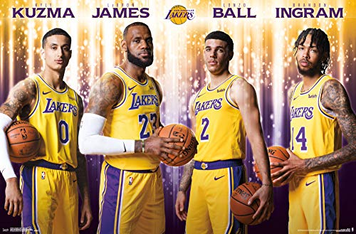 Poster Los Angeles Lakers Basketball - Trends International Los Angeles Lakers - Team Wall Poster, 22.375