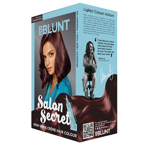 BBLUNT Salon Secret High Shine Creme Hair Colour - Reddish Brown 4.56, 100g