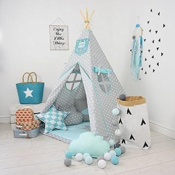 SOLENZO Tipi enfant bleu complet pour chambre de garçon ou ...