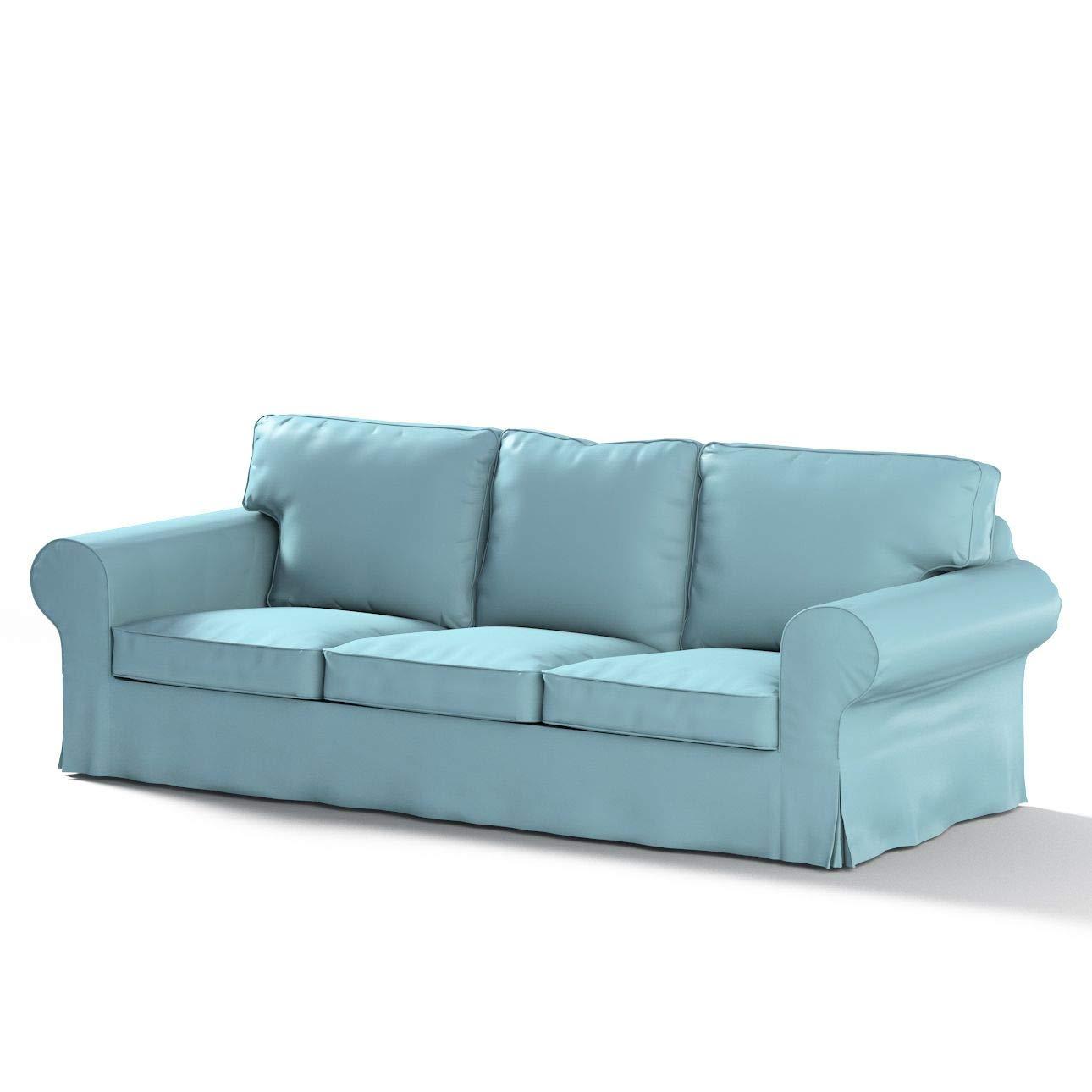 Dekoria Ektorp 3-Sitzer Schlafsofabezug, ALTES Modell Sofahusse passend für IKEA Modell Ektorp blau