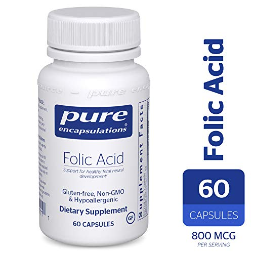 Pure Encapsulations - Folic Acid - Hypoallergenic Dietary Supplement - 60 Capsules -