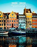 2019 - 2020 | 18 Month Weekly & Monthly Planner July 2019 to December 2020: Copenhagen Denmark Europe City Vacation Travel Monthly Calendar with ... Holidays- Calendar in Review/Notes 8 x 10 in.