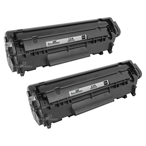 VALUE PACK - 2PK Remanufactured Replacement for HP 12A Q2612A Black Laser Toner Cartridge + Copy Paper, 92 Bright, 20LB. 8.5x11 White 1,500 Sheets 3 Ream By Speedy Inks