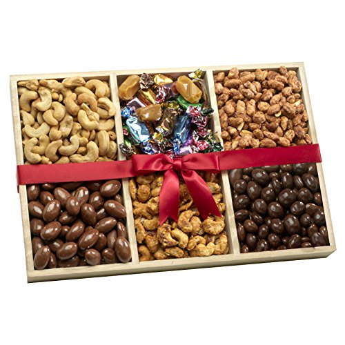 Broadway Basketeers Nuts and Sweets Deluxe Gift Tray