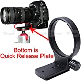 iShoot Lens Support Collar Tripod Mount Ring for Nikon AF 80-400mm f/4.5-5.6D ED VR and Nikon AF-S 300mm f/4D IF-ED -Bottom is Camera Quick Replease Plate Feature