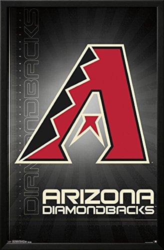 - Arizona Diamondbacks- 2016 Logo Lamina Framed Poster - 35.75 x 23.75in