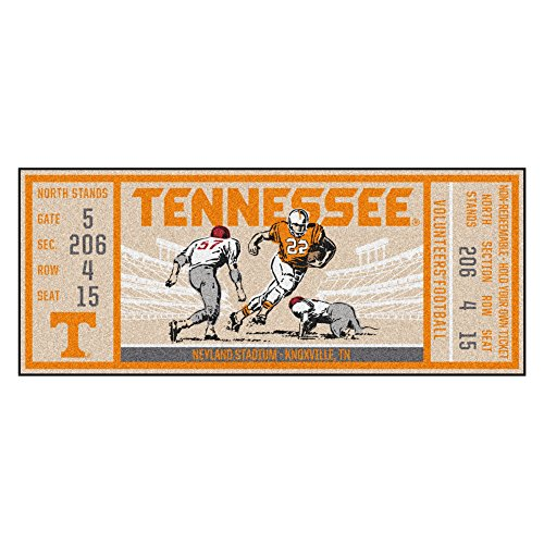 FANMATS NCAA Tennessee Volunteers University of Tennesseeticket Runner, Team Color, One Size