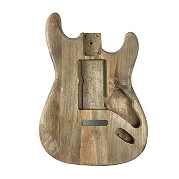 Cuerpo de guitarra eléctrica de madera de arce, tipo Stratocaster, de TOOGOO: Amazon.es: Instrumentos musicales