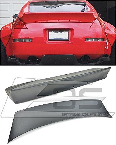 for 2003-2008 Nissan 350Z Fairlady Z34 | EOS Rocket Bunny Style Fiberglass Primered Black Ducktail Rear Trunk Lid Wing Spoiler -