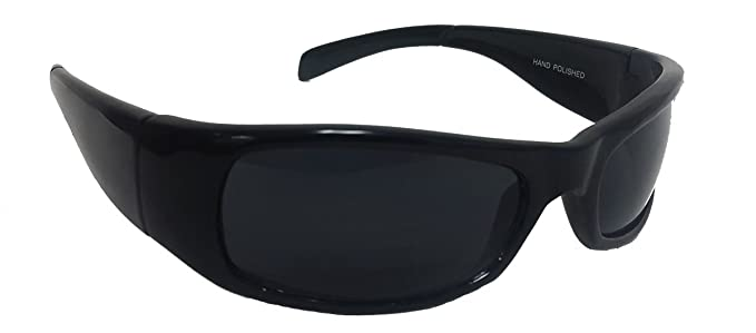 hot sale uk availability pretty cheap Elegant Men's Dark Lens Wrap Around Black Sunglasses With Free Carrying  Pouch