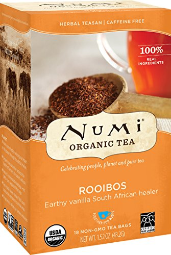 Numi Organic Tea Rooibos, 18 Count Box of Tea Bags (Pack of 3) Herbal Teasan (Packaging May Vary) from Numi