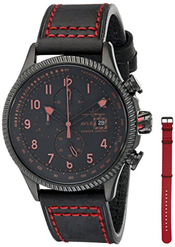 AVI-8 Men's AV-4036-03 Hawker Hunter Analog Display Japanese Quartz Red Watch