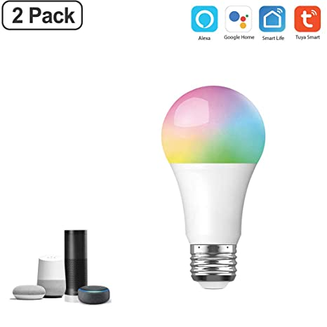 WiFi Smart Light Bulb, 10W Dimmable RGB Color Changing LED