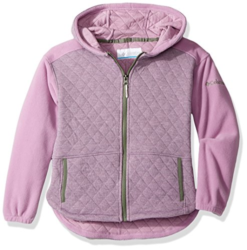 Columbia Little Girls' Lena Lake Quilted Jacket, Violet Haze Heather, XX-Small (Quilted Jacket Sweater)