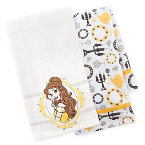 Disney Parks Beauty and the Beast Belle Kitchen Dish Towel Set