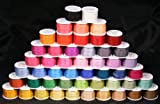 New ThreadNanny 50 Spools of 100% Pure Silk Ribbons - 4mm x 10 Meters - 50 Colors no Duplicates