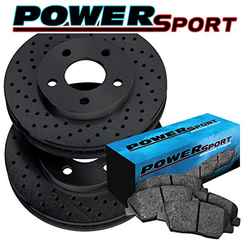 - Fit 1987-1993 Saab 900, 9000 Front Black Drilled Brake Rotors+Ceramic Brake Pads